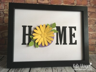 HOME frame with interchanging 'O' Spring using Stampin Up by Kate Morgan Australia 2018
