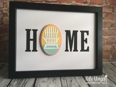 HOME frame with interchanging 'O' Summer using Stampin Up by Kate Morgan Australia 2018