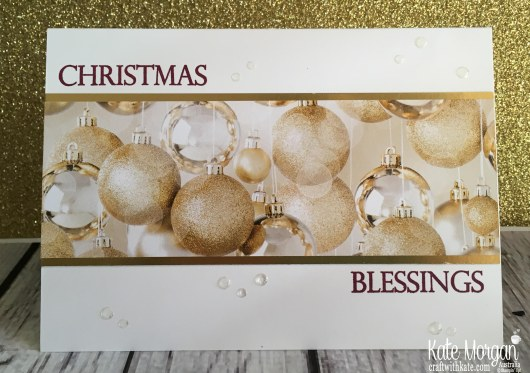 Merry Christmas to All & All is Bright DSP handmade card by Kate Morgan, Stampin Up Australia Holiday catalogue 2018.