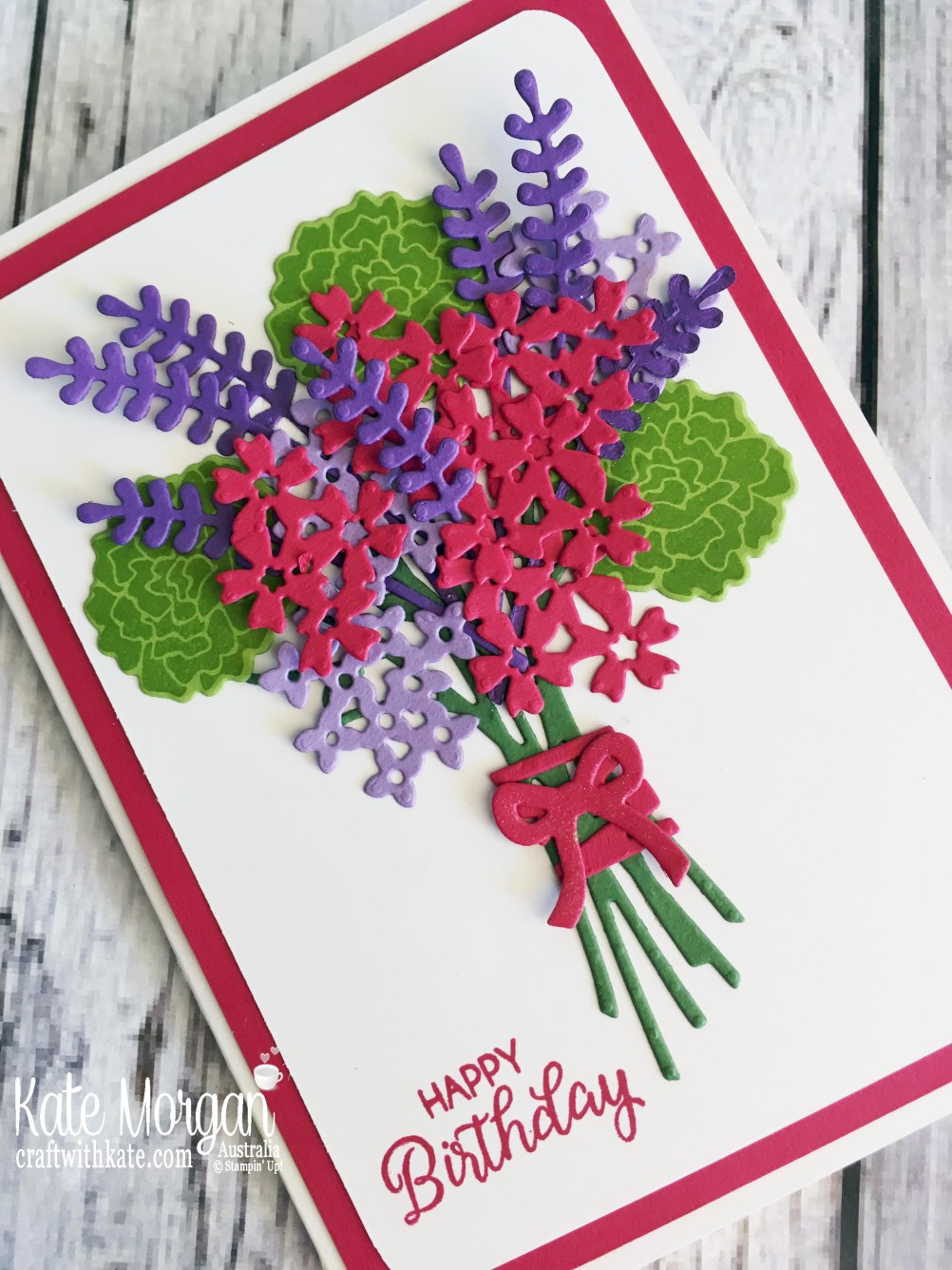 Beautiful Bouquet for Lovely Lipstick Colour Creations Blog Hop by Kate Morgan, Stampin Up Australia 2018.JPG