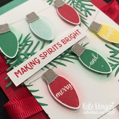 Christmas card using Stampin' Ups Making Christmas Bright Bundle by Kate Morgan, Australia. Holiday catalogue 2018.