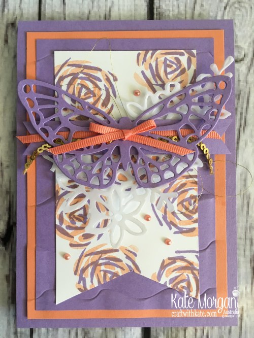 Colour Creations Blog Hop Highland Heather using Stampin Up Abstract Impressions by Kate Morgan Australia 2018