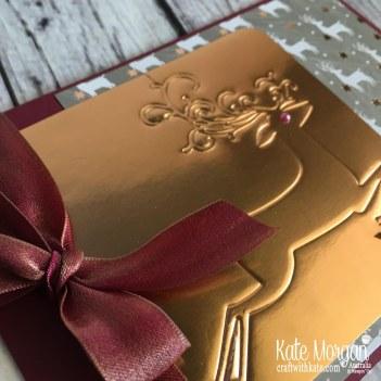 Dry Embossed Christmas Card using Stampin Up Dashing Deer & Joyous Noel by Kate Morgan, Australia Christmas 2018