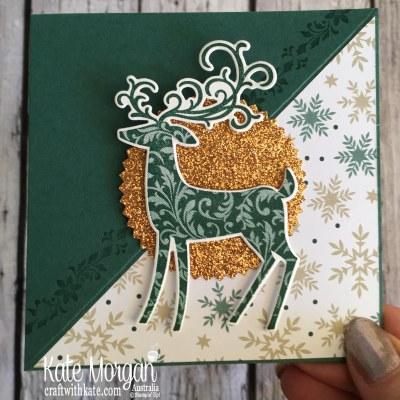 Easel Card using Stampin Up Dashing Deer & Joyous Noel by Kate Morgan Australia Christmas 2018..JPG