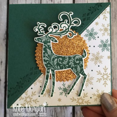 Easel Card using Stampin Up Dashing Deer & Joyous Noel by Kate Morgan Australia Christmas 2018..JPG