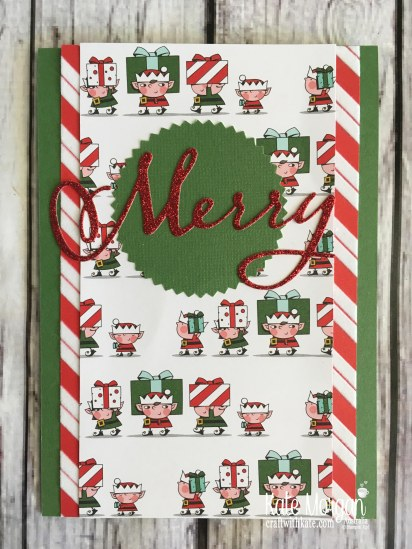 Santas Workshop Stampin Up by Kate Morgan, Australia 2018.