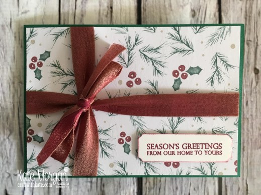 Joyous Noel DSP Stampin Up Christmas 2018 by Kate Morgan, Australia