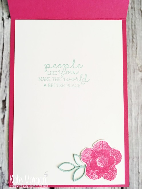 Needlepoint Nook Stampin Up 2019 for Colour Creations Melon Mambo blog hop by Kate Morgan, Australia.