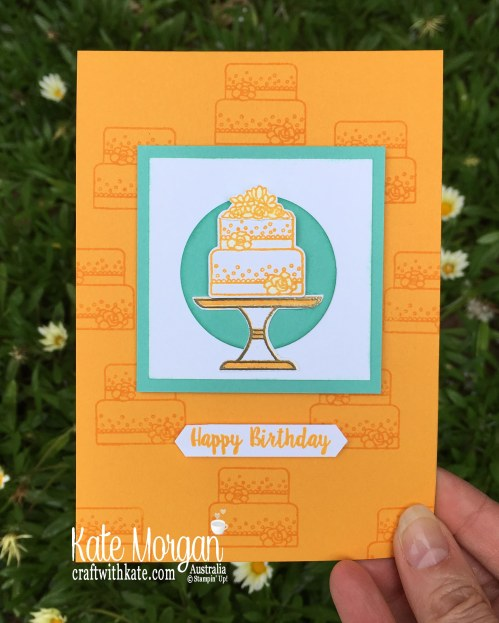 Piece of Cake for Colour Creations Mango Melody Blog Hop, Occasions catalogue Sneak Peek by Kate Morgan Stampin Up Australia 2019