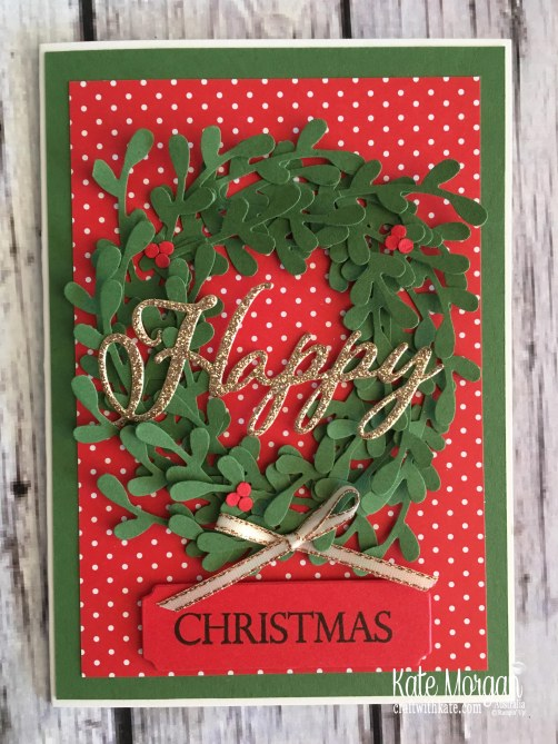 Sprig Christmas Wreath by Kate Morgan Stampin Up Australia 2018