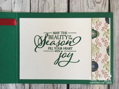 Under the Mistletoe DSP Stampin Up Christmas 2018 by Kate Morgan, Australia.