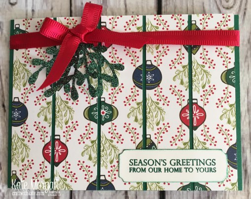 Under the Mistletoe DSP Stampin Up Christmas 2018 by Kate Morgan, Australia