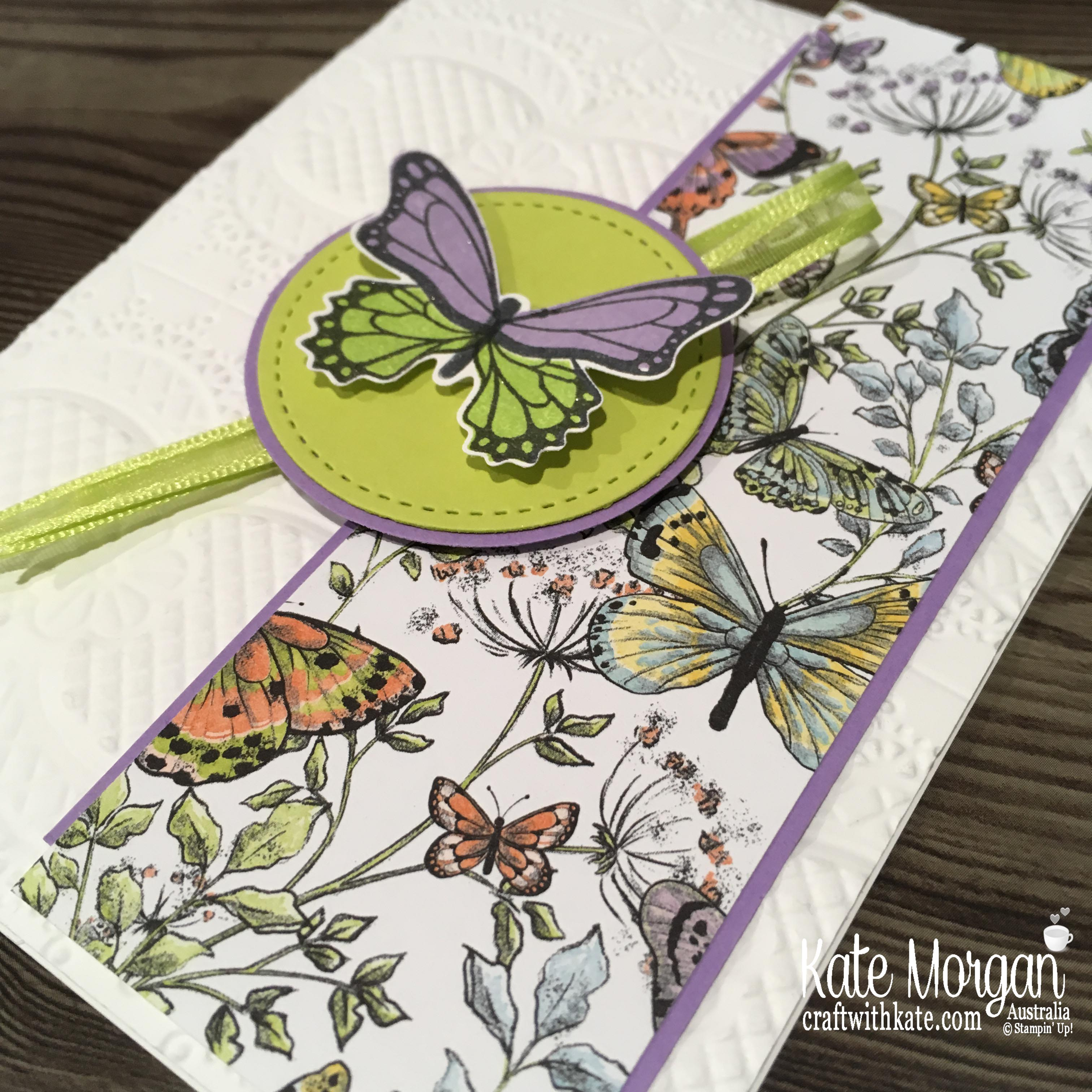 Butterfly Gala & Botantical Butterfly DSP Stampin Up Occasions, Saleabration by Kate Morgan, Australia 2019.