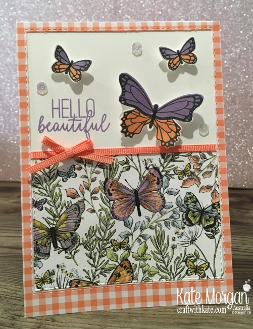 Butterfly Gala & Gingham Gala DSP Stampin Up Occasions Saleabration by Kate Morgan, Australia 2019.