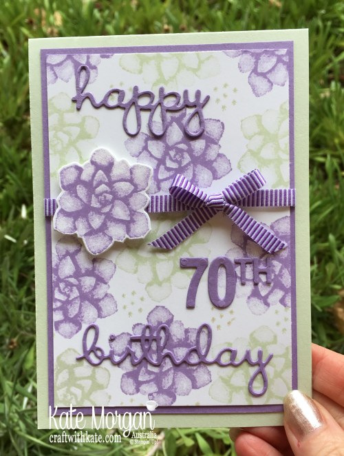 70th birthday using Stampin Up Painted Seasons Saleabration 2019 by Kate Morgan Australia.