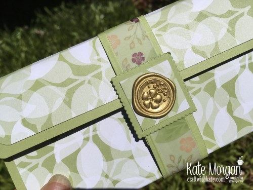 Gift Purse using Stampin Up Floral Romance DSP Occasions 2019 by Kate Morgan Australia