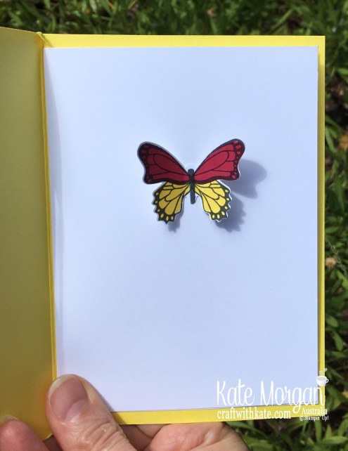window card using stampin up butterfly gala, happiness blooms occasions 2019 by kate morgan, australia