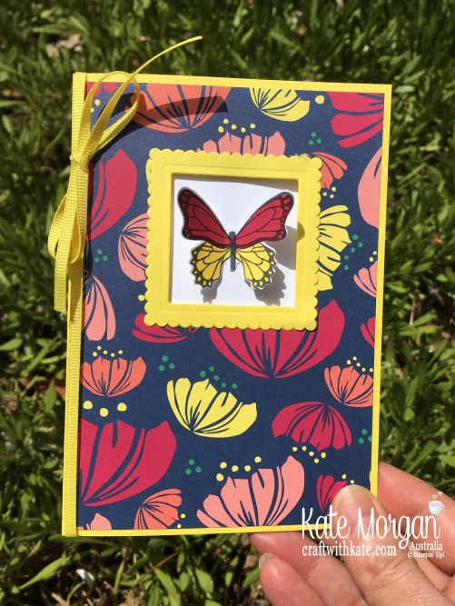 Window card using Stampin Up Butterfly Gala, Happiness Blooms Occasions 2019 by Kate Morgan Australia.JPG