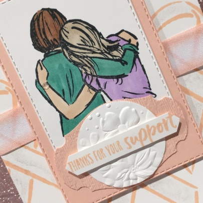 Artfully Aware Thank you card by Kate Morgan Stampin Up Australia