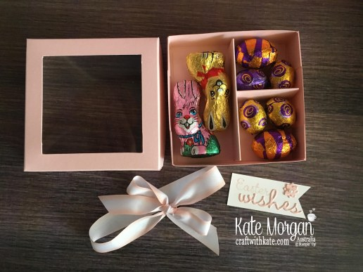 Divided Easter Treat Box open by Kate Morgan Stampin Up Australia
