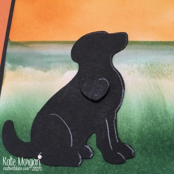Happy Tails Dog Builder PunchStampin Up Sponging by Kate Morgan Australia