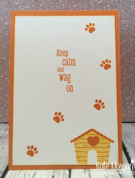 Happy Tails Dog Stampin Up Sponging by Kate Morgan Australia inside