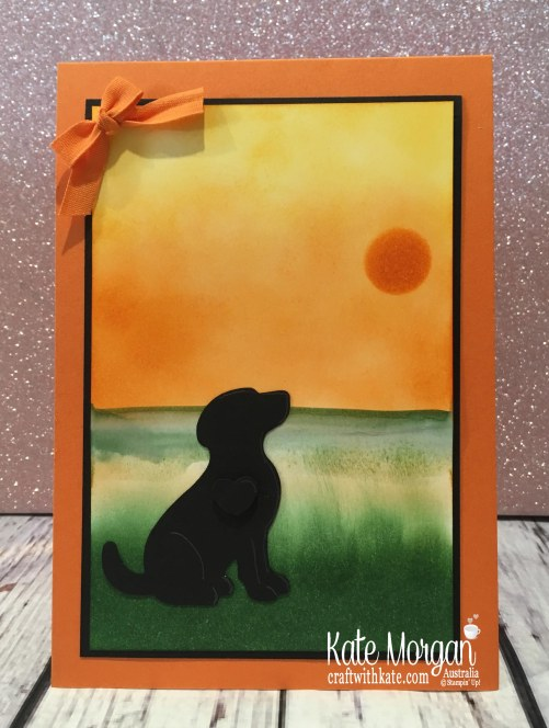 Happy Tails Dog Stampin Up Sponging by Kate Morgan Australia.JPG