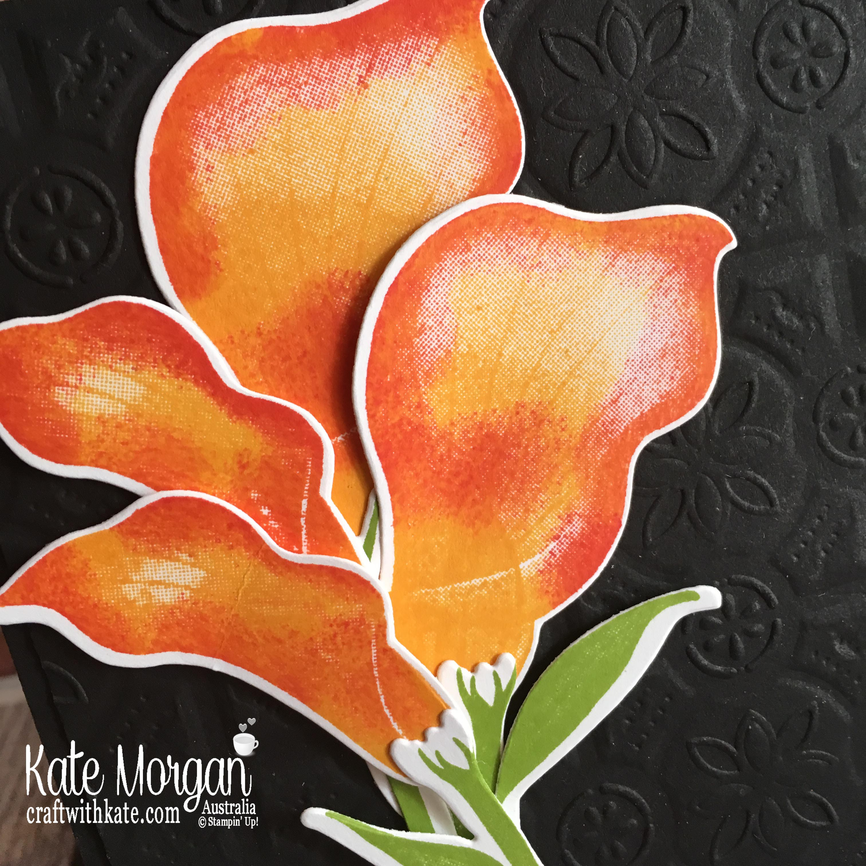 Lasting Lily Stampin Up Saleabration 2019 Colour Creations Blog Hop by Kate Morgan, Australia.