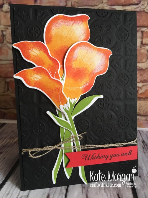 Lasting Lily Stampin Up Saleabration 2019 Colour Creations Blog Hop by Kate Morgan Australia