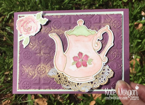 Mother's Day Card using Stampin Up Tea Together, Watercolouring by Kate Morgan, Australia..jpg