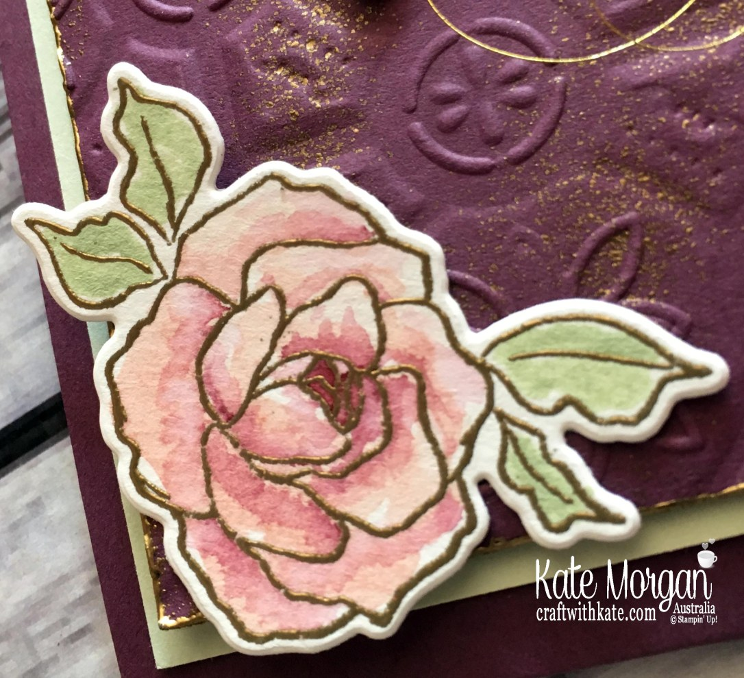 Mother's Day Card using Stampin' Up Tea Together, Watercolouring by Kate Morgan, Australia..JPG