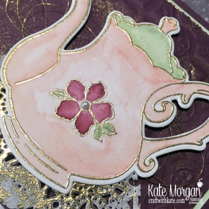Mother's Day Card using Stampin Up Tea Together Watercolouring by Kate Morgan Australia.