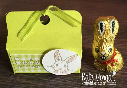 Easter Treat Box with Fable Friends Occasions 2019 by Kate Morgan Stampin Up Australia.