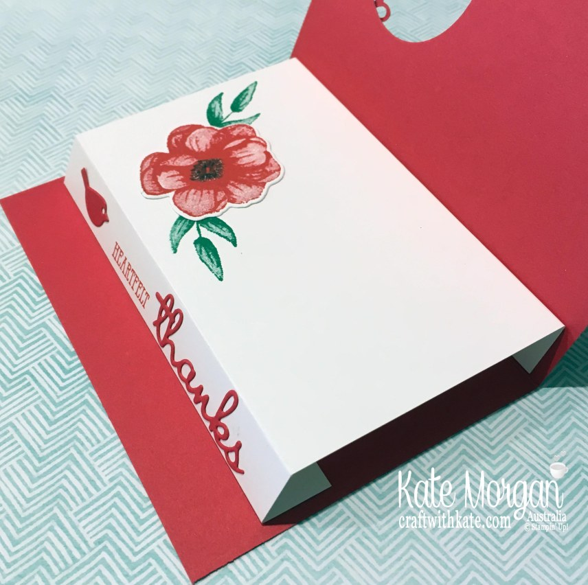 Heartfelt Thanks with Stampin Up Painted Seasons Bundle, Well Said & Well Written by Kate Morgan, Australia, Occasions 2019.jpg