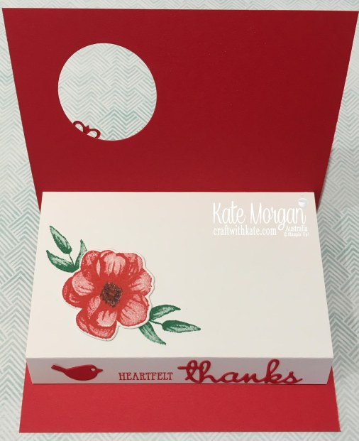 Heartfelt Thanks with Stampin Up Painted Seasons Bundle, Well Said, Well Written by Kate Morgan Australia, Occasions 2019.