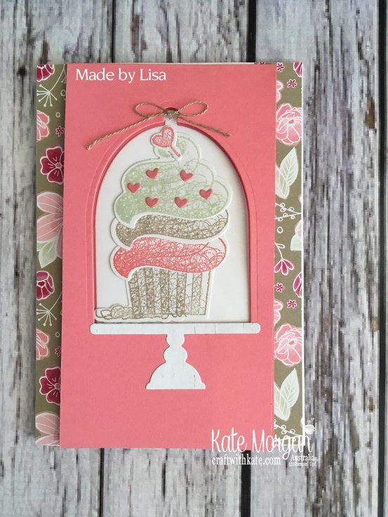 Hello Cupcake Window Card, All My Love DSP Saleabration 2019 by Kate Morgan Stampin Up Australia.