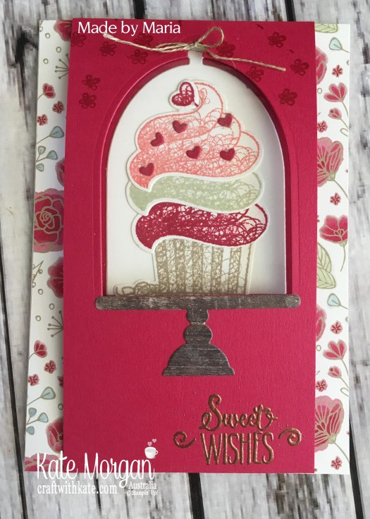 Hello Cupcake Window Card, All My Love DSP Saleabration 2019 by Kate Morgan Stampin Up Australia