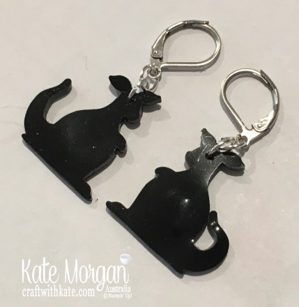 Kangaroo Earrings by Kate Morgan Stampin Up Australia
