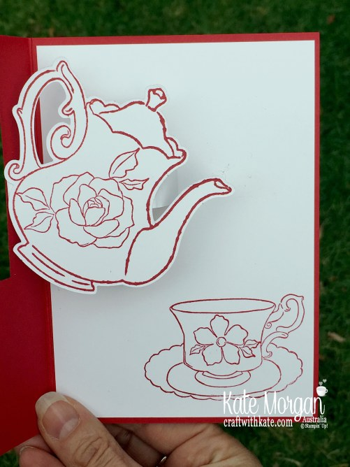 Tea Together Fancy Fold Mother's Day card for Colour Creations Blog Hop Stampin Up Occasions 2019 by Kate Morgan Australia