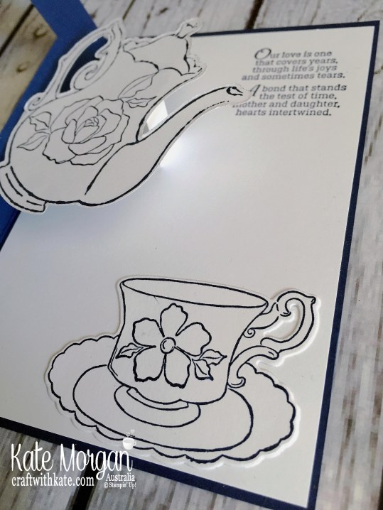 Tea Together Mother's Day card for Colour Creations Blog Hop Stampin Up Occasions 2019 by Kate Morgan Australia. i