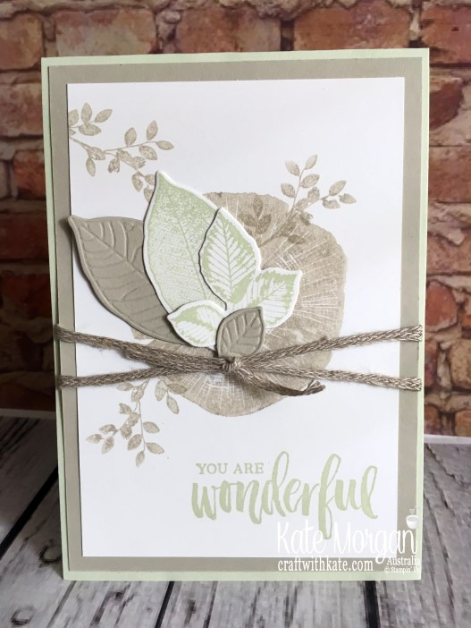 Thank you card with Stampin Up Rooted in Nature Bundle by Kate Morgan Australia 2019 Colour Creations Sahara Sand..JPG