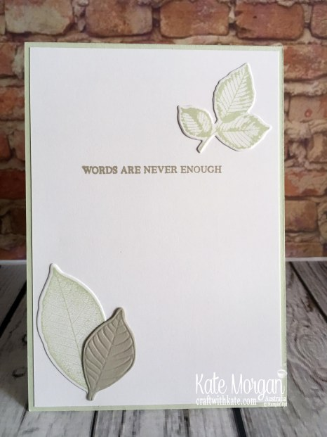 Thank you card with Stampin Up Rooted in Nature Bundle by Kate Morgan Australia. 2019 Colour Creations Sahara Sand.JPG