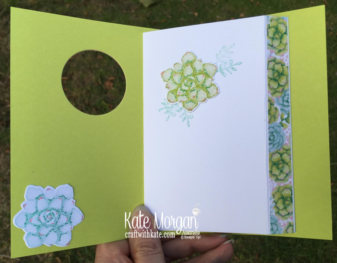 Thanks card with Stampin Up Painted Seasons Bundle, Well Said, Well Written by Kate Morgan, Australia, Occasions 2019.