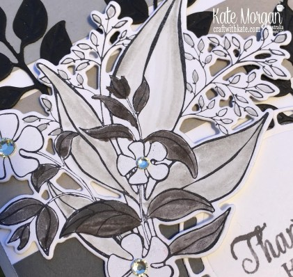 Wonderful Romance Monotone for Colour Creations Smoky Slate Blog Hop by Kate Morgan Stampin Up, Australia.