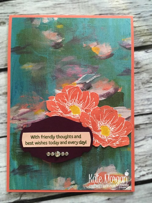 Floral Essence Perrenial Flower by Kate Morgan Stampin Up Australia 2019 Coral