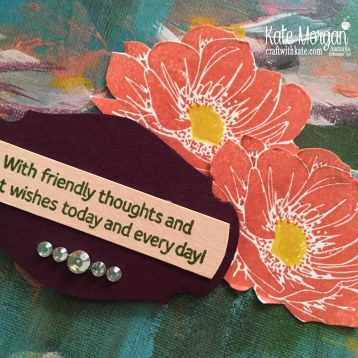 Floral Essence Perrenial Flower by Kate Morgan, Stampin Up Australia.