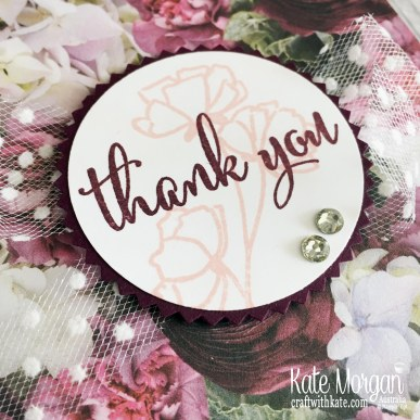 Love What You Do ith Petal Promenade Thank You card by Kate Morgan Stampin Up Australia 2019 Fancy Fold.
