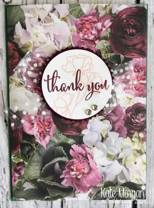 Love What You Do ith Petal Promenade Thank You Fancy Fold card by Kate Morgan Stampin Up Australia 2019
