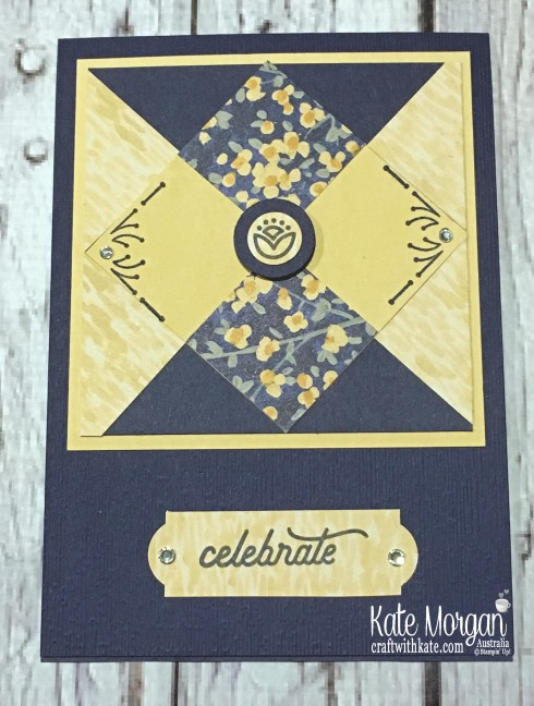 Patchwork card using Around the Corner & Garden Impressions DSP by Kate Morgan Stampin Up Australia