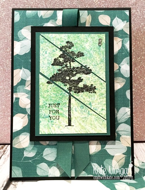 Rooted in Nature for Colour Creations Tranquil Tide Blog Hop by Kate Morgan, Stampin Up Australia 2019..